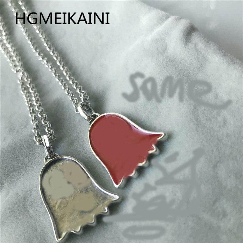 HGMEIKAINI925 % collier en argent sterling 1-1 mode européenne et américaine rouge poulpe pendentif couples bijoux cadeaux