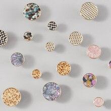 Simanfei 4PCS Handle Brass Nordic Minimalist Stone Shell Pattern Wardrobe Door Drawer Single Hole Pure Copper