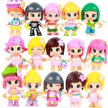 Bonecas pinypon 3 ~ 5 pçs/lote originais, bonecas destacáveis, brinquedos de ação, dúvida, bonecas de moda, brinquedos para meninas