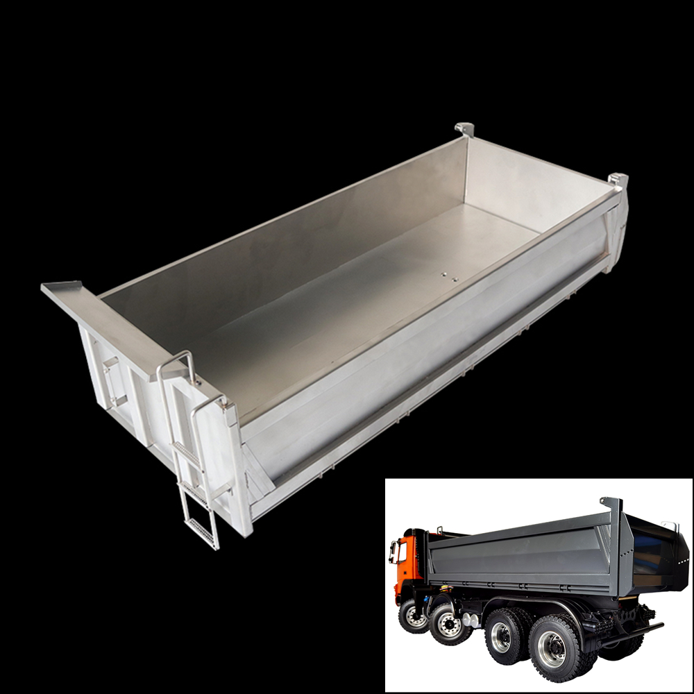 <font><b>Tamiya</b></font> <font><b>Truck</b></font> Metal Aluminum Cargo Compartment For 1/14 <font><b>Rc</b></font> <font><b>Truck</b></font> <font><b>Dump</b></font> <font><b>trucks</b></font> Benz Arocs 3363 3348 Bucket Modified Accessories image