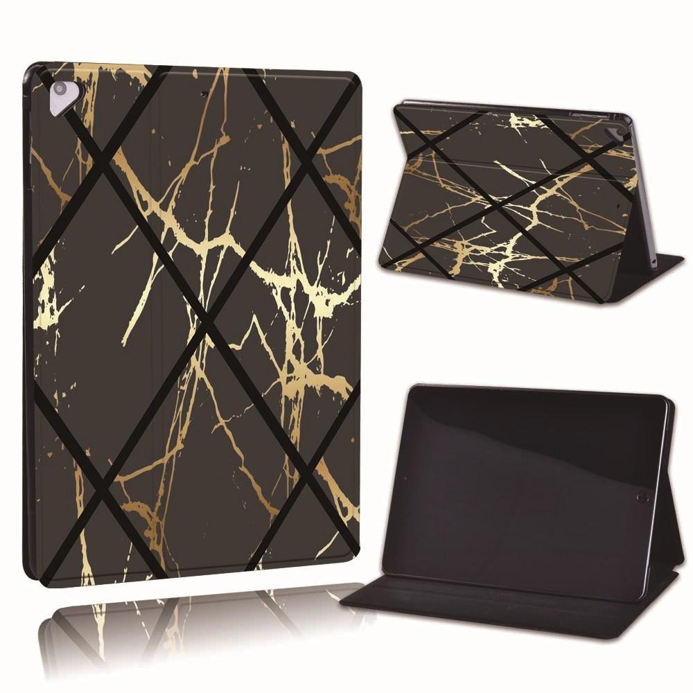 11.black geometric Gold For Apple iPad 8 10 2 2020 8th 8 Generation A2428 A2429 Slim Printed Geometry PU