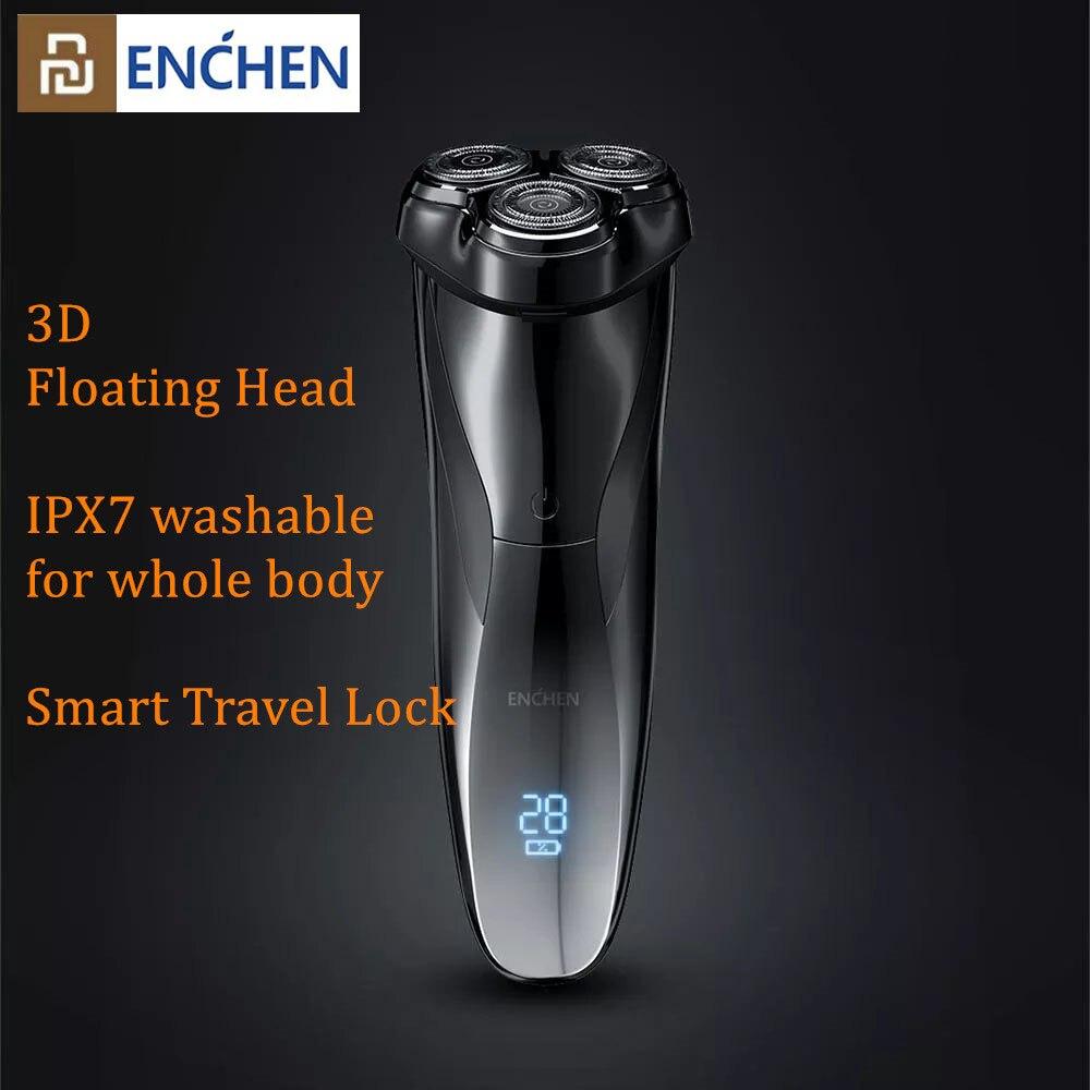 Youpin Enchen BlackStone 3 Pro электробритва/головка резак моющийся IPX7 водонепроницаемый ЖК Type C перезаряжаемая зарядка Смарт-гаджеты      АлиЭкспресс