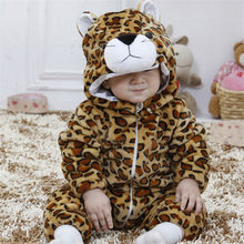 Tiger Kigurumi For Baby Animal Cosplay Costume Child Kid Boy Girl Onesie Winter Autumn Soft Pajama Fancy Infant Cute Sleep Suit(China)