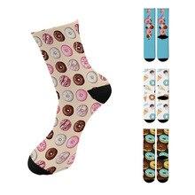 New Creative Design 3D Printed Men Women Long Socks Harajuku Fun Food Printed Socks For Women Cute Happy Women Colorful Socks 3d creative design men women printed high socks harajuku funny animal printed cotton long socks for women new happy socks