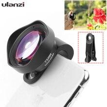 Ulanzi 75mm Macro Lens HD No Distortion DSLR Effect Clip on for iPhone 11 Samsung Huawei Xiaomi Phone Camera Lens 17mm Thread