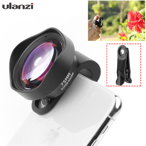 Image 1 - Ulanzi 75mm Macro Lens HD No Distortion DSLR Effect Clip on for iPhone 11 Samsung Huawei Xiaomi Phone Camera Lens 17mm Thread
