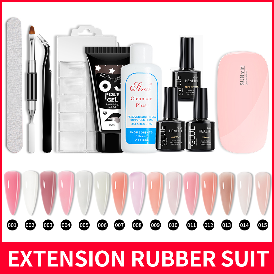 ROHWXY Polish Gel Nail Kit For Manicure Design Gel Nail Extenstion For Nail Art Tools Poly Nail Gel Set For Nails Painting|Sets & Kits| - AliExpress