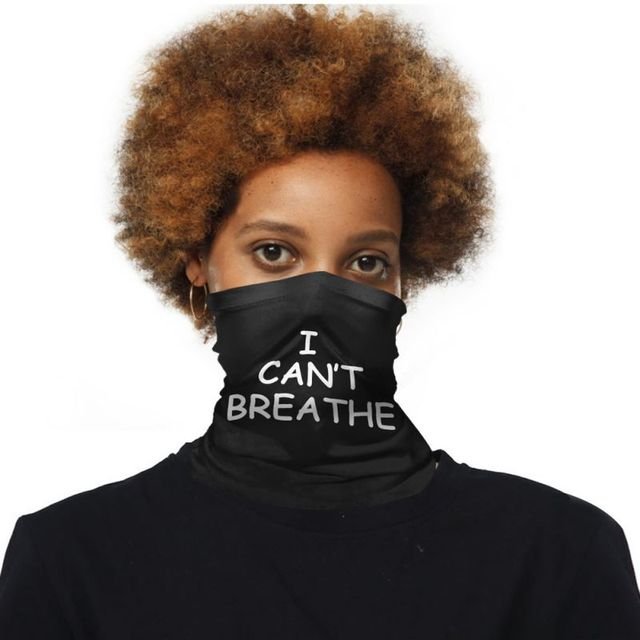 I CAN  'T BREATHE Protective Mask Riding Mask Multi-function Magic Head Scarf Scarf Bal 4