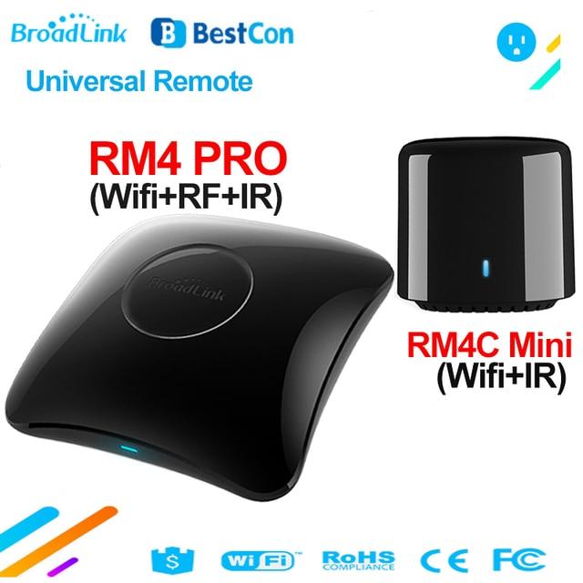 جهاز تحكم عن بعد عالمي من Broadlink RM4 PRO واي فاي IR RF يعمل مع جهاز تحكم صغير عن بعد من BestCon RM4C يعمل مع أليكسا جوجل هوم