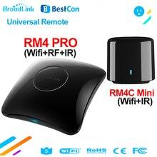 Broadlink RM4 PRO WiFi ИК RF универсальный пульт дистанционного управления Умный дом BestCon RM4C Мини ИК Контроллер работает с Alexa Google Home