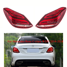 For Mercedes-Benz C-class W205 2014-2018 Rear tail light Brake Light Bumper Fog lamp Tail Stop Lamp taillights