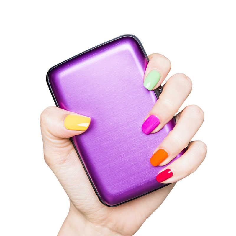 RFID การปิดกั้นกระเป๋าสตางค์แบบพกพาป้องกันปลอดภัย Travel Identity บัตรเครดิตน้ำหนักเบาสำหรับบุรุษและสตรี
