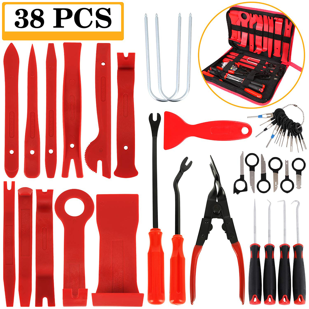 Hand Tool Removal Tool Kit Car Panel Tool 11-38pcs Disassembly Tool Set Car Door Panel Removal Tool Audio Disassembly Tool Kit