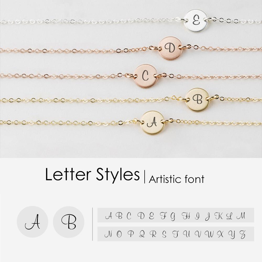 eManco Custom Engraved Letter Braclets for women 316L Stainless Steel women Bracelet Accessories Jewelry