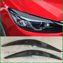 Auto styling M6 ABS Scheinwerfer Augenbraue Dekorative Abdeckung Aufkleber Trim Für Mazda 6 2016 2017 M6 Außen Scheinwerfer Augenlid Auto teile