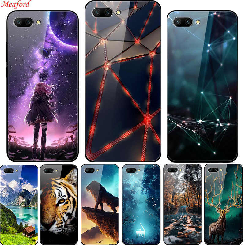 Funda de vidrio para Huawei Honor 10 funda de vidrio templado de lujo funda trasera para Honor 10 V30 funda Honor 10 lite Honor 20 Coque