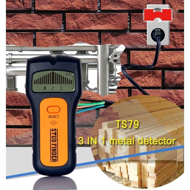 3 в 1 металлоискатель Профессиональный Скрытая провода детектор Finder древесины Стад стены сканер Househeld на переменном токе в прямом эфире обнаружения TS79|Промышленные металлодетекторы|   | АлиЭкспресс