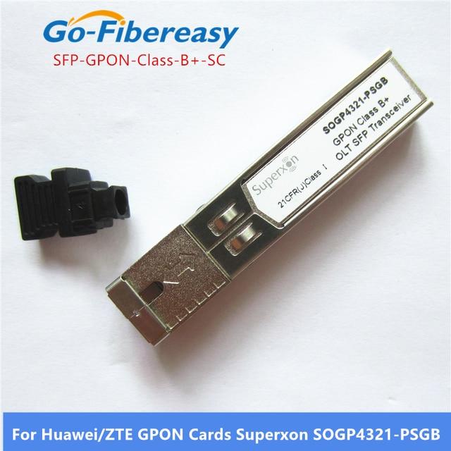 SFP مثبت جهاز إرسال واستقبال OLT GPON الفئة B + SC موصل وحدات الألياف البصرية SFP متوافق مع وحدات بطاقات SFP Huwei/ZTE