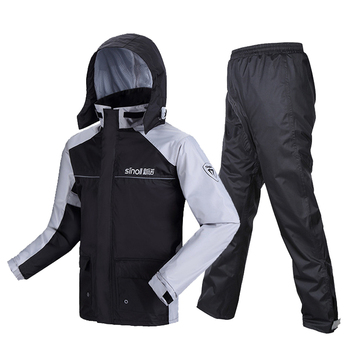 SINOLL Motorcycle Raincoat+Rain Pants Motorcycle Rain Suit Waterproof Poncho Riding Motorbike Rain Coat Motorcycle Rain Jacket