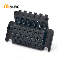 Electric Guitar Tremolo Bridge Systems with logo Double Locking Edge with Whammy Bar Black Gold Chrome