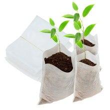 Sacos de berçário não tecido biodegradáveis, 100, tamanhos diferentes, sacos de crescimento de plantas, potes de mudas, ecológico