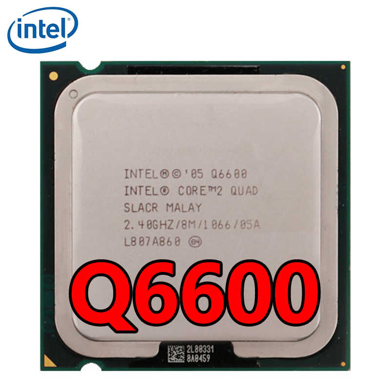 معالج Intel Core 2 Quad Q6600 CPU رباعي النواة 2.4 جيجاهرتز 8 متر كاش 95 واط 1066 ميجاهرتز FSB LGA 775 Q6600 وحدة معالجة مركزية لسطح المكتب