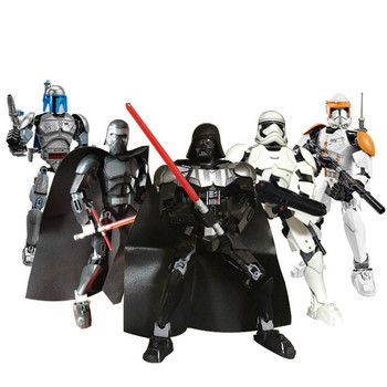 Star Wars Buildable Figure Building Block Stormtrooper Darth Vader Kylo Ren Chewbacca Boba  Action Figure Toy For Kids funko pop star wars figure toys darth vader luke skywalker leia action figure toys for friend birthday gift collection for model