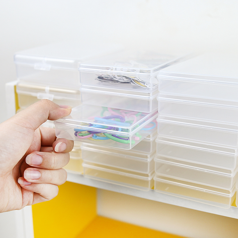 PP Transparent Mini Box Multi-function Organizer Storage Box For Washi Tape Stickers Paper Clips Art Supplies