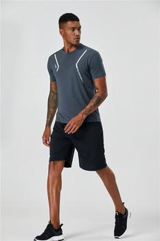 Raibaallu męskie koszulki do biegania szybka kompresja na sucho t-shirty sportowe Fitness Gym koszulki do biegania koszulki męskie koszulki z krótkim rękawem tanie i dobre opinie Pasuje prawda na wymiar weź swój normalny rozmiar Szybkie suche CJW22