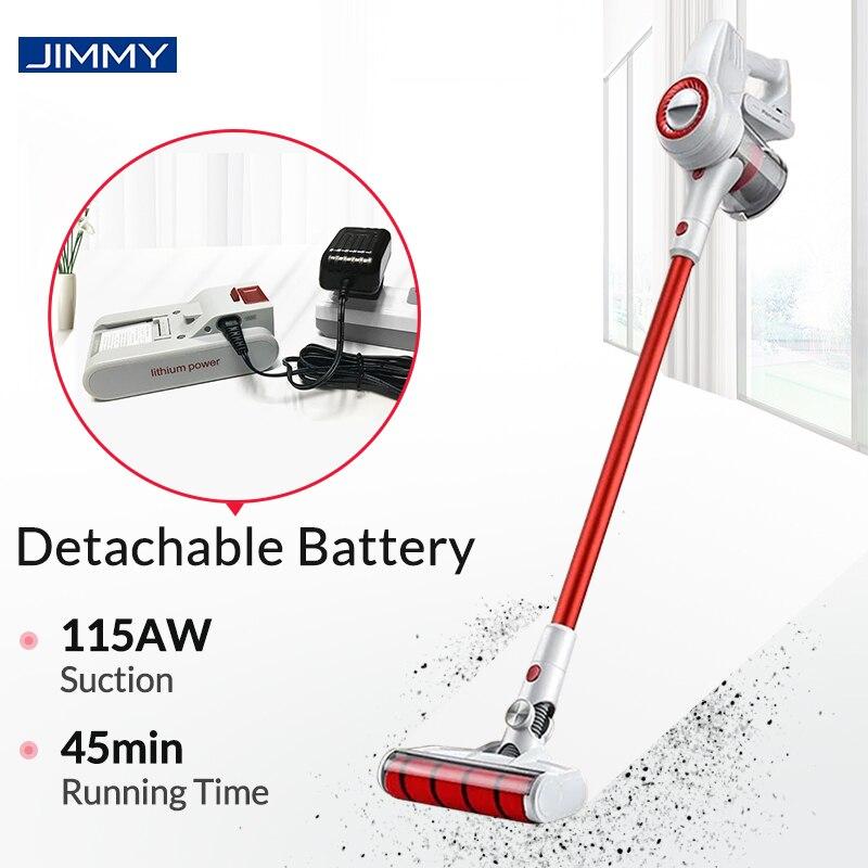 Jimmy jv51 aspirador sem fio portátil protable ciclone filtro forte sucção tapete coletor de pó sem fio para casa