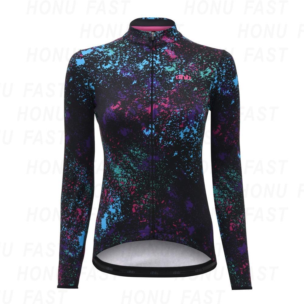2020 DHB Cycling Jersey Women Pro Team Summer Long Sleeve MTB Bicycle Cycling Clothing Ropa Ciclismo Maillot Bike Shirt Top