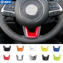 Mopai abs interior do carro volante decoração capa guarnição adesivos para jeep renegado 2015 + para jeep compass 2017 estilo do carro