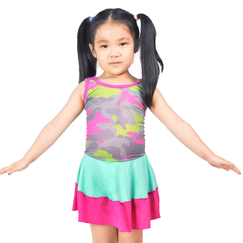 Girl'S Swimsuit One-piece Cute Children Sun-resistant Boxer Swim Bathing Suit Big Boy Baby Korean-style Princess Dress-Swimwear