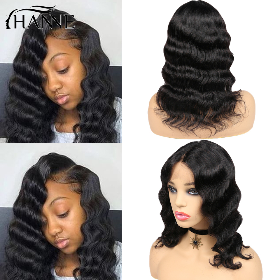 Hanne Hair Lace Front Middle Part Human Hair Wigs Loose Deep Wave Short Hair Wig Brazilian Glueless Wigs For Women Part Lace Wigs Aliexpress