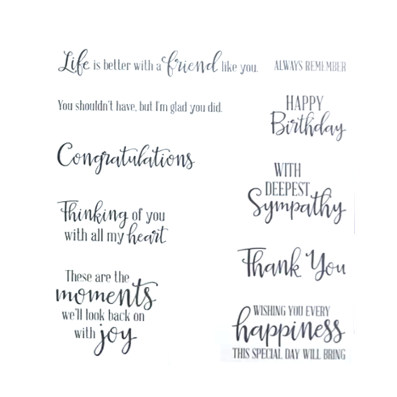 JC383 Snow Front Photopolymer Stamp Set and cutting Dies for Craft Dies Scrapboo