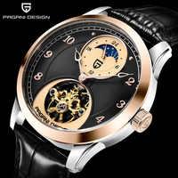 Reloj Mecánico de diseño PAGANI de moda para hombre reloj deportivo de lujo para hombre reloj Tourbillon de acero inoxidable reloj automático impermeable