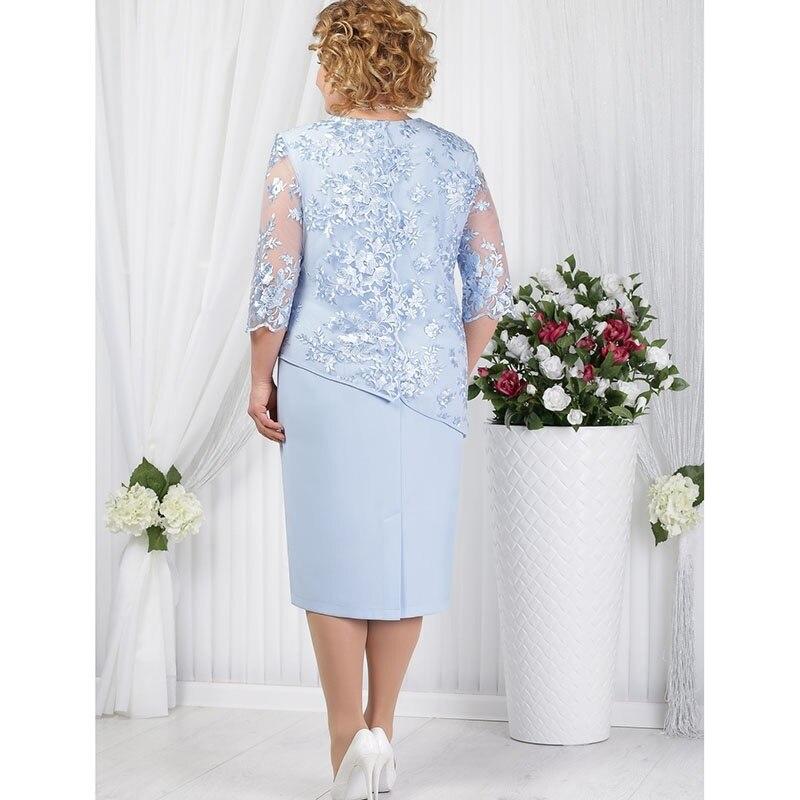 HOT PROMO) Elegant Half SleeveLace Evening Dress Plus Size O ...