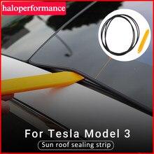 Model3 zestaw redukcji szumów samochodowych cichy zestaw uszczelniający do modelu Tesla 3 2021 akcesoria Skylight szklana taśma uszczelniająca Model trzy