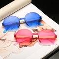 Clássico Da Moda Leve Rodada óculos de Sol das Mulheres do Desenhador Sexy Tendência Produtos Adulto Óculos Óculos de Tendência