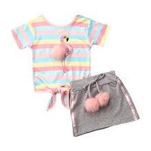 Aa 2020 комплекты одежды для маленьких девочек детские топы