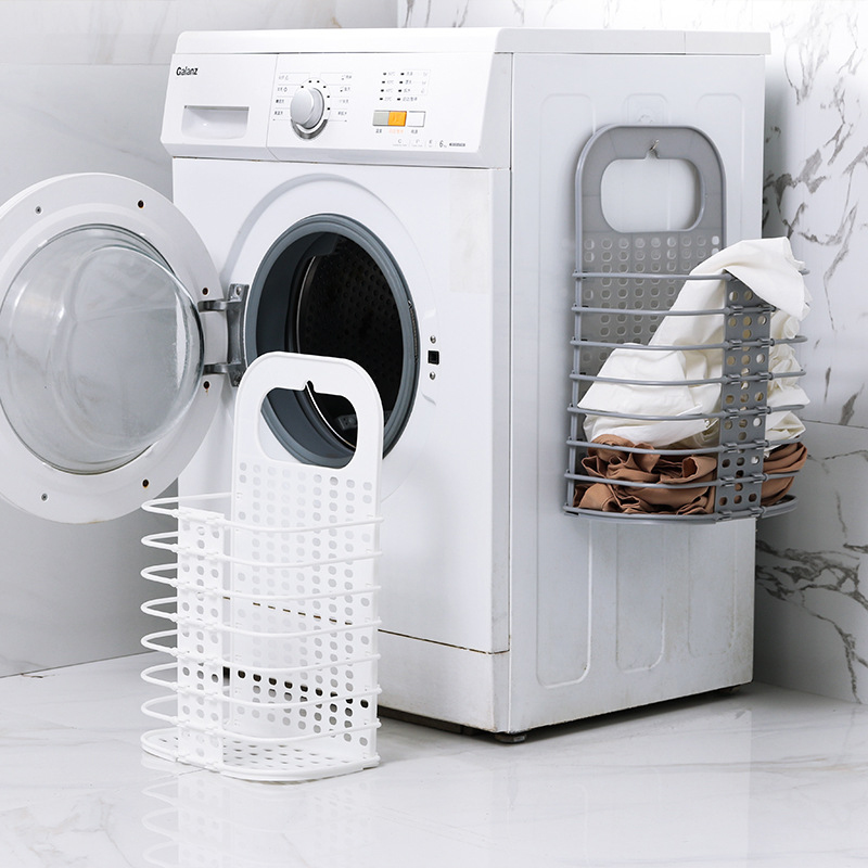 Household Laundry Storage Basket Collapsible Hamper Free Punching Clothing Toy Storage Baskets Household Laundry Storage Baskets
