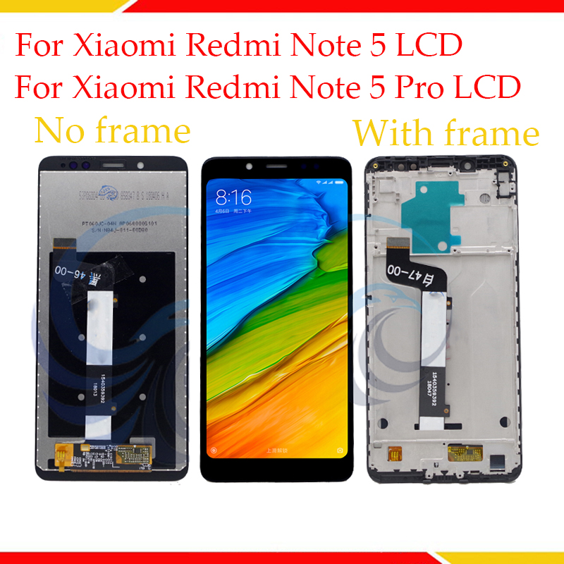 100% Tested LCD Display Screen For Xiaomi Redmi Note 5 LCD Display With Touch Screen Complete Assembly For Redmi Note 5 Pro