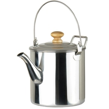 лучшая цена Outdoor Camping Kettle Portable 3000Ml Stainless Steel Tea Kettle Coffee Pot With Handle For Camping Hiking