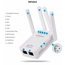 Roteador sem fio 2.4ghz wifi 300mbps de alto ganho antenas repetidor impulsionador extensor casa rede 802.11n rj45 2 portas longa distância