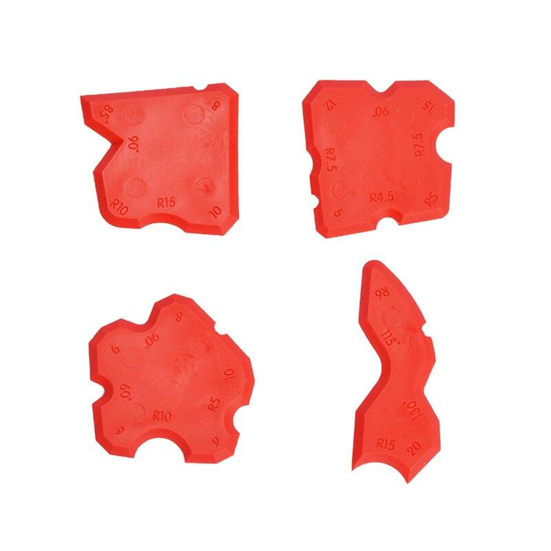 4pcs Grouting Sealant Silicone Profiling Applicator Caulk Tool For Ceramic Tile Sealant Grout Edge-Remover Scraper Hand Tool Set