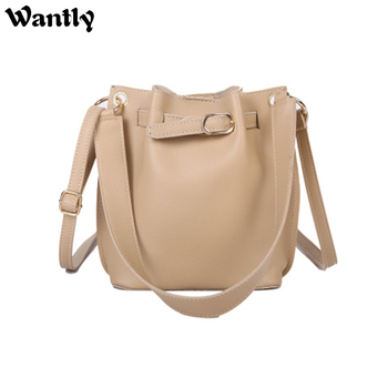 High Capacity Women 39 S Bags 2020 Korean Style Pull- Belt Western Female Bucket Cross-Body Luxury Designer Shoulder Handbags image