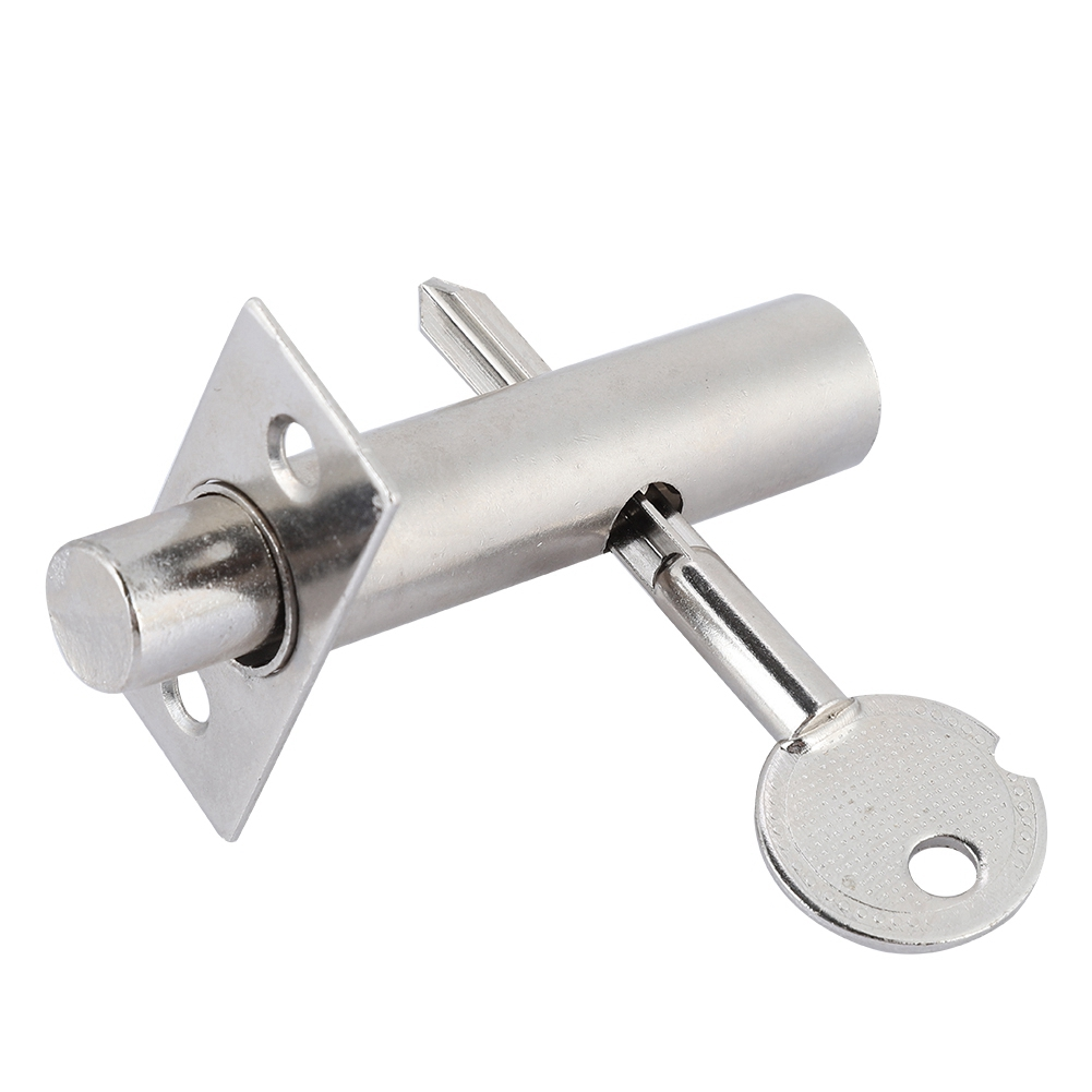 Hardware Pipe Tube Well Invisible Door Lock Locker Stainless Steel Lock For Lock Pipe Fireproof Door Escape Aisle Locks With Key