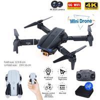 E99 PRO Drone 4K Cámara Dual de HD GPS WiFi FPV plegable de retorno automático aérea profesional Drone PK F11 Drone helicóptero Juguetes