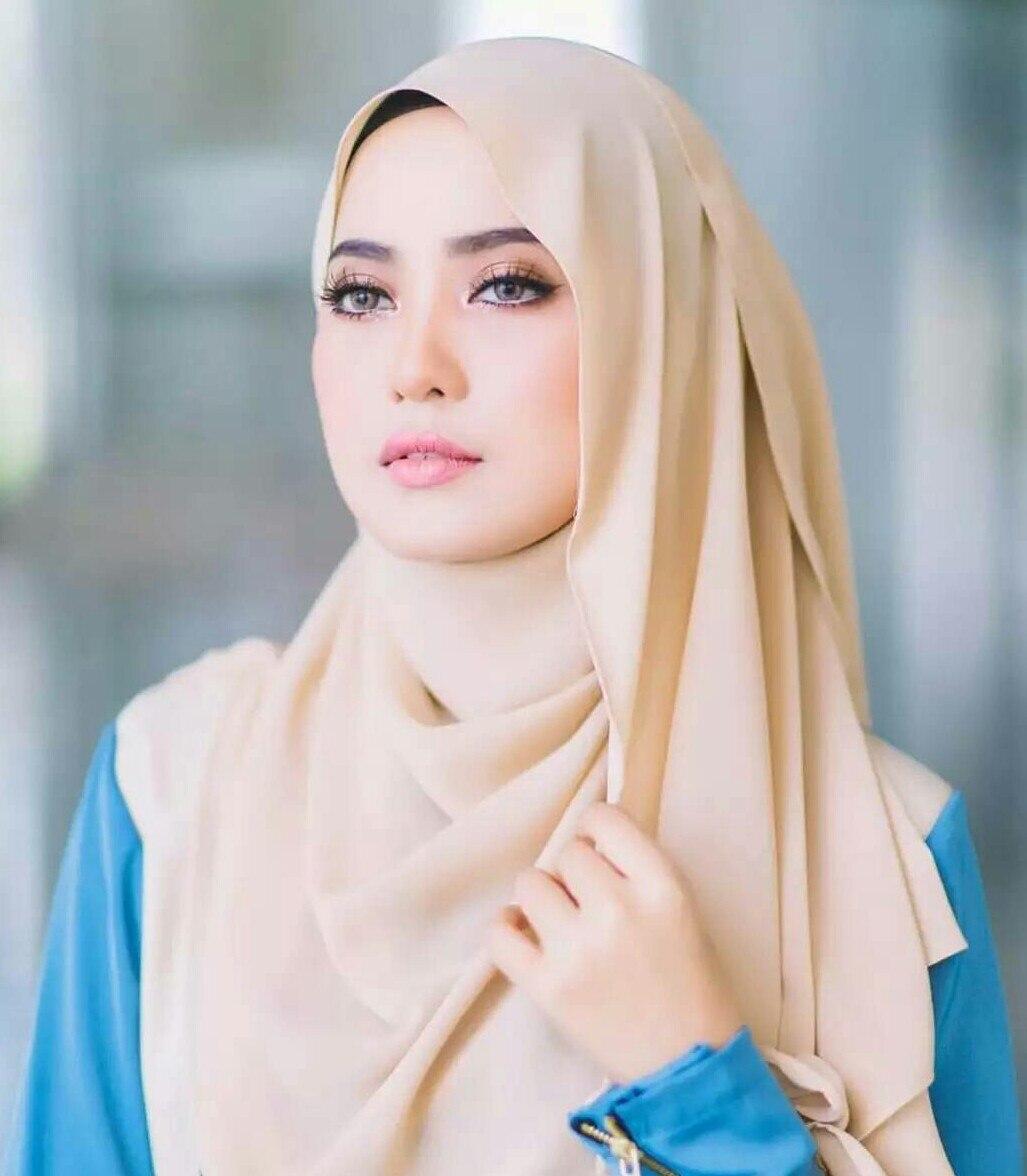 Nouveau la Malaisie musulmane Hijabs Femmes Plain Châle d/'été en mousseline de soie Head Wrap Foulard