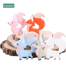 Bopoobo 1PC Silicone Baby Teethers Fox Chewable BPA Free Rodent Teething Tiny Ro